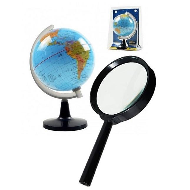 Globo Político  Terrestre Mapa Mundi Giratório Lupa
