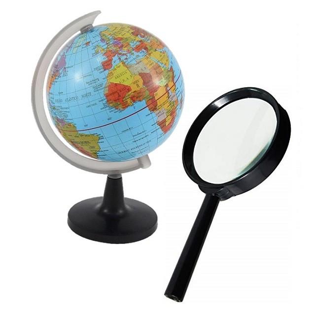 Globo Terrestre Político Mapa Mundi Giratório Lupa