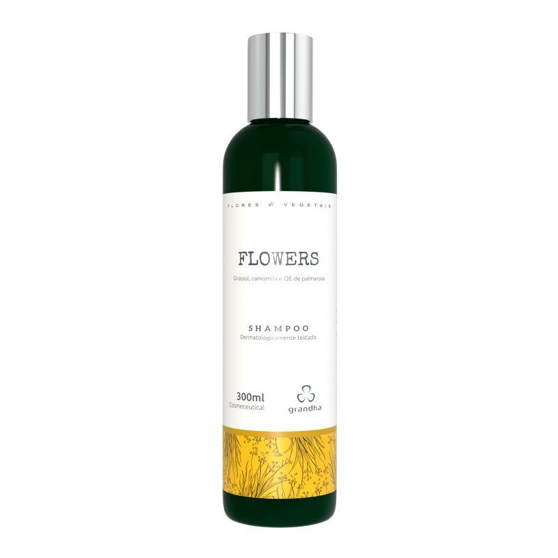 Grandha flowers Flores e Vegetais Shampoo terapia capilar 300ml