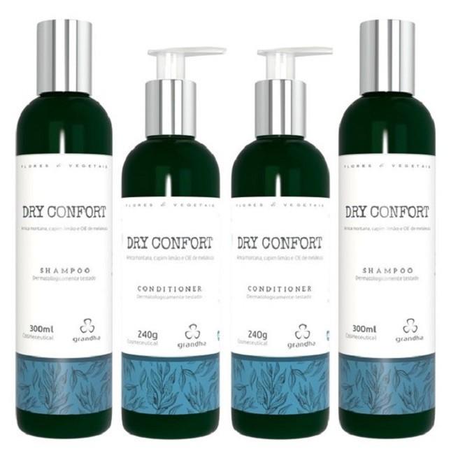 Grandha Dry Confort Com 2 Shampoo 2 Condicionador