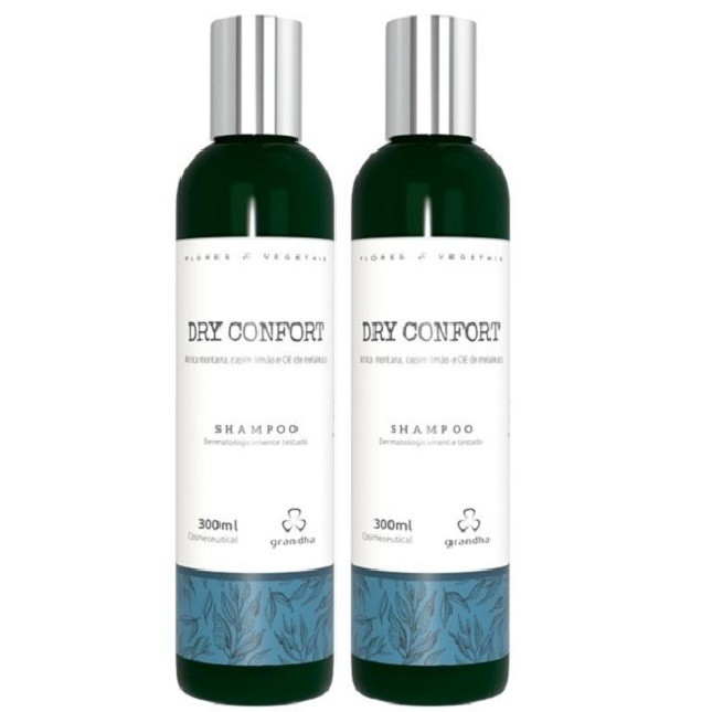 Grandha Dry Confort Shampoo Raízes Oleosas Com 2 unidades
