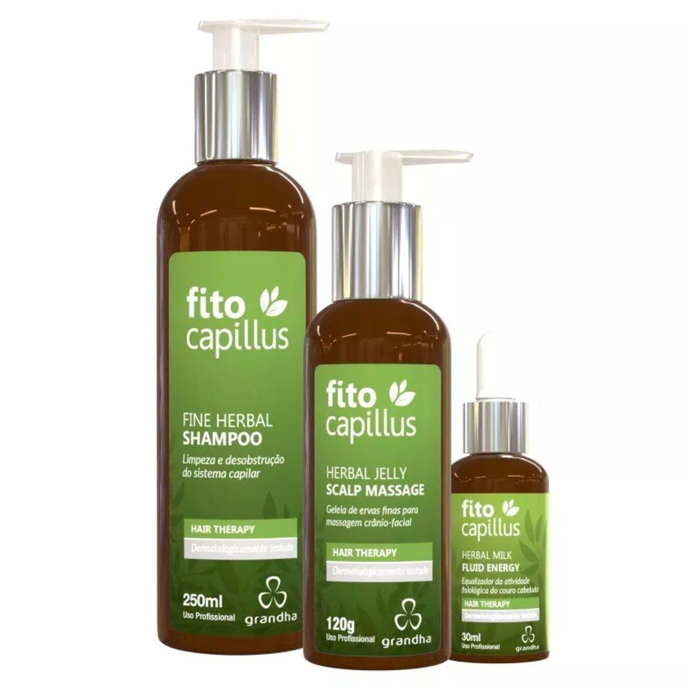 Grandha  Fito Capillus Terapia Capilar Kit Completo