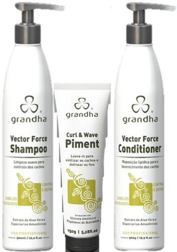 Grandha Kit Vector Force Curl & Wave 500 ml e Wave Piment (angel)