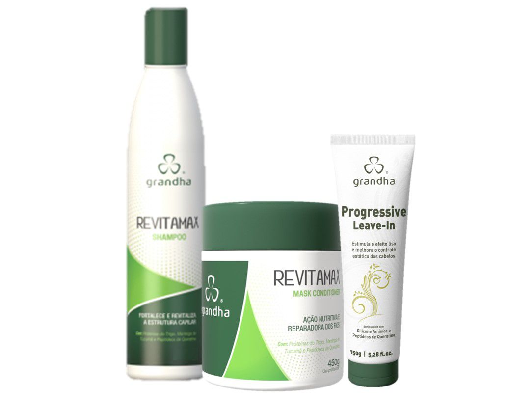 Grandha Kit Revitamax Completo Shampoo 500g e Máscara 450g