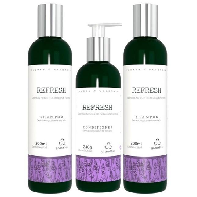 Grandha Refresh Com 2 Shampoo 1 Condicionadores