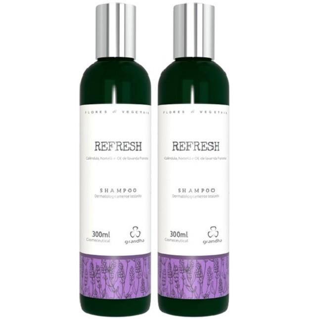 Grandha Refresh Com 2 Shampoo Flores & Vegetais
