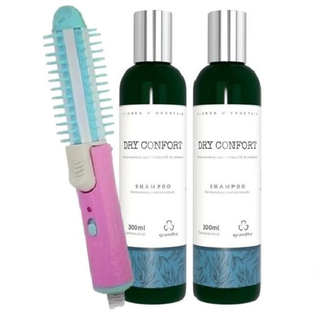 Grandha Shampoo Dry Confort Com 2 unidades e Escova