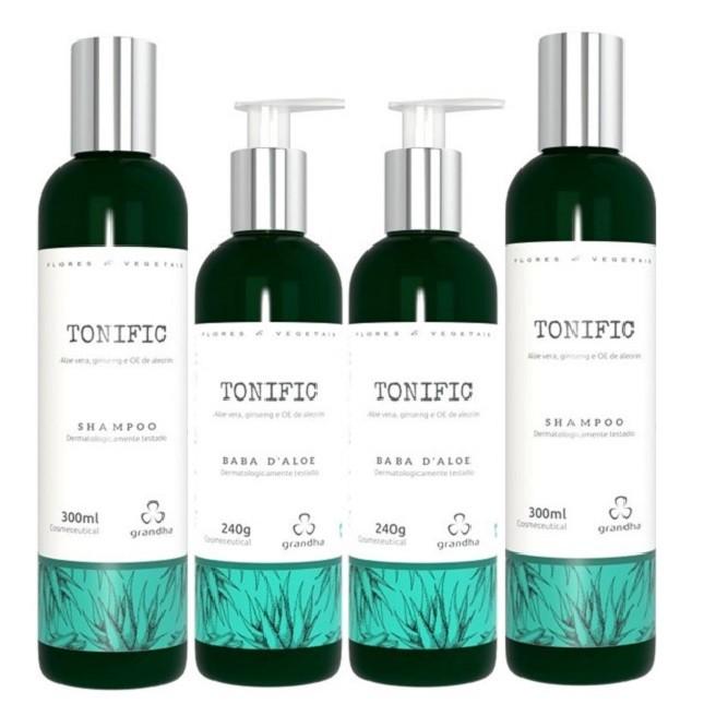 Grandha Tonific 2 Shampoo 2 Baba D'Aloe Flores e Vegetais