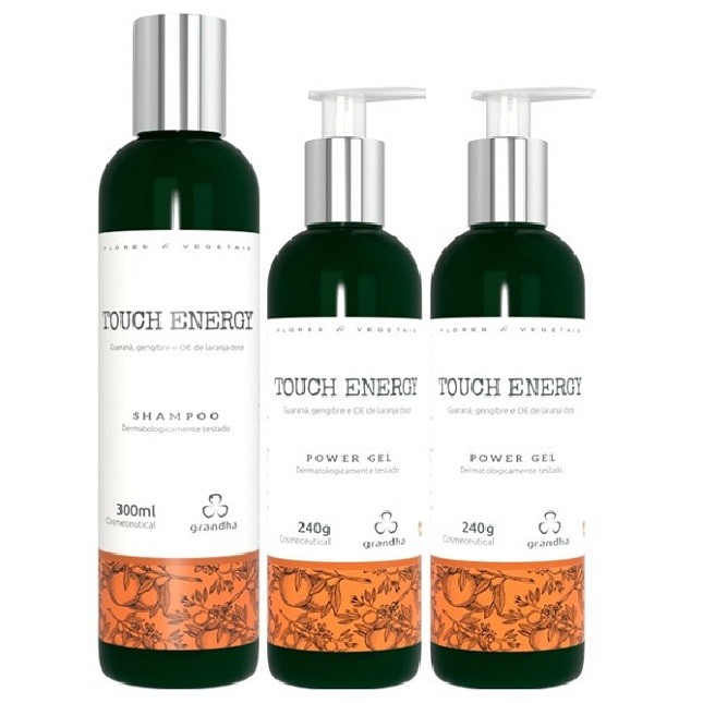 Grandha Touch Energy Com 1 Shampoo 2 Power Gel