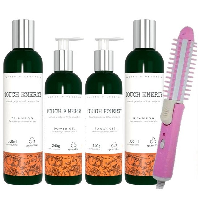 Grandha Touch Energy Com 2 Shampoo 2 Power Gel  e Escova