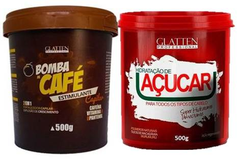 Hidratação de Açúcar e Máscara Bomba de Café (2 X500 g) Glatten