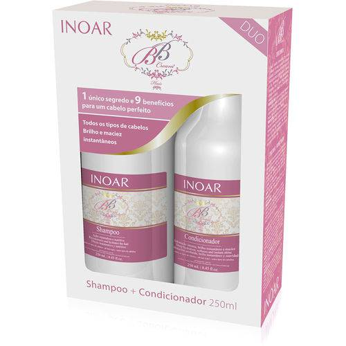 Inoar Kit Duo Bb Cream Hair Shampoo e Condicion. (2 X 250ml)