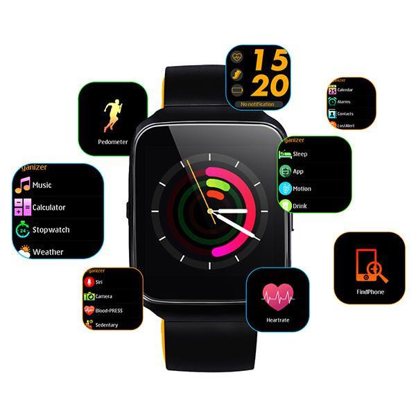 Z40 Relógio Smartwatch Android, Notificações Whatsapp, Bluetooth, Camera Preto