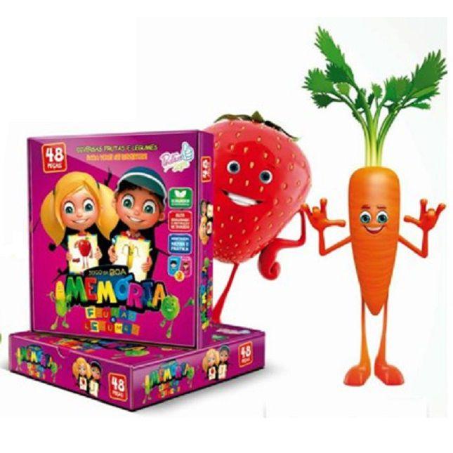 Jogo Educativo da  Memória Frutas & Legumes