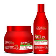 Kit Banho de Verniz Morango Forever Liss Shampoo 500ml + Máscara 250ml