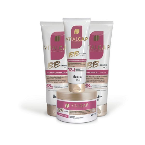 Kit BB Cream Hair VITALCAP completo