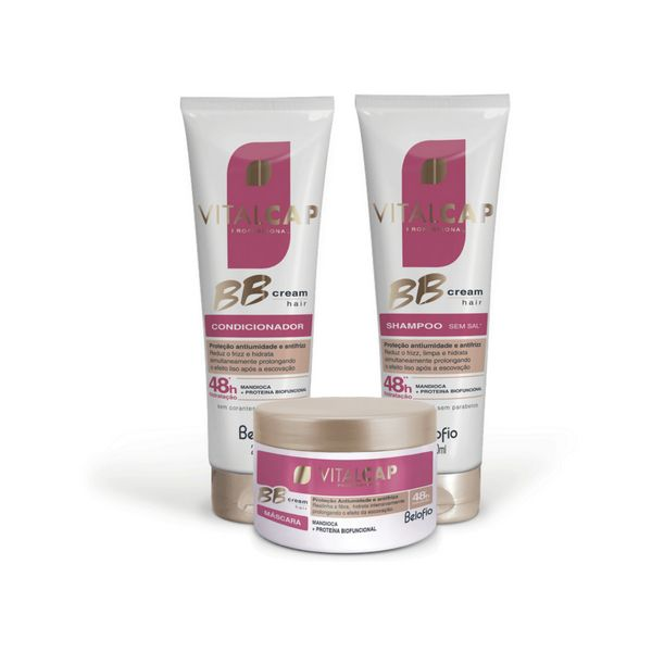 Kit BB Cream Shampoo, Condicionador e Máscara ViTALCAP