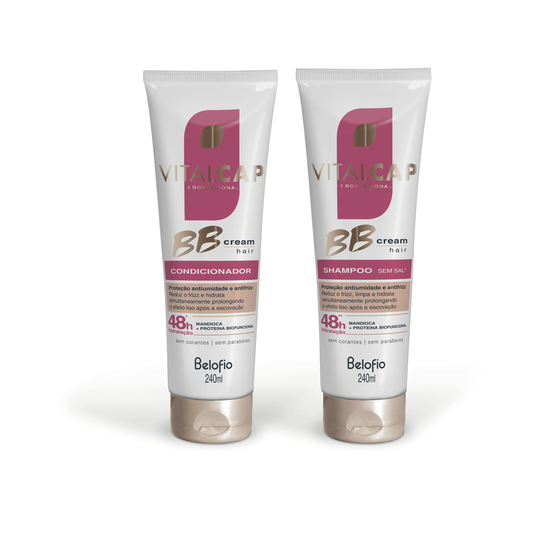 Kit BB Cream Shampoo e Condicionador VITALCAP