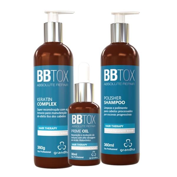 Kit Botox Absolute Repair Grandha 360g Pós Progressiva