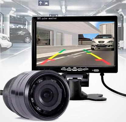 Kit Camera De Ré Visão traseira com Monitor 7 Polegadas LCD Tomate
