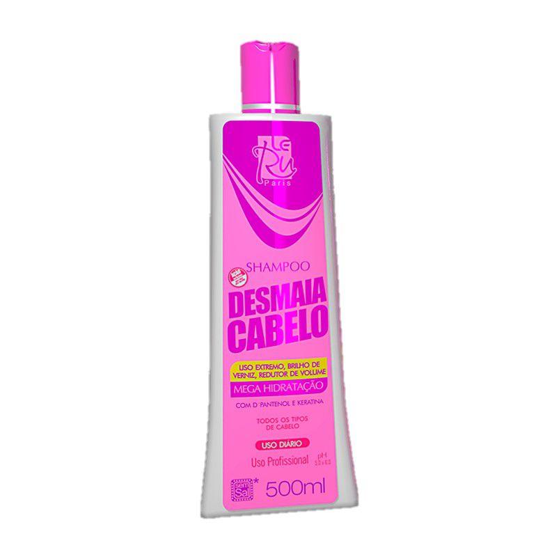 Kit Completo Desmaia Cabelo Shampoo Condicionador Mascara Leavein Le ru