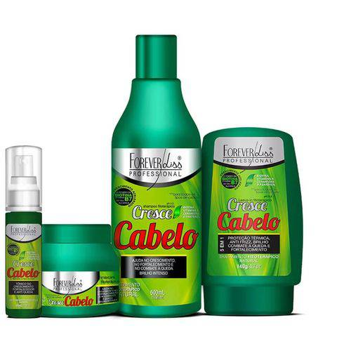 Kit completo Forever Liss Cresce Cabelo Shampoo 500ml+máscara 250g+ Leave In 140g+tônico 60ml
