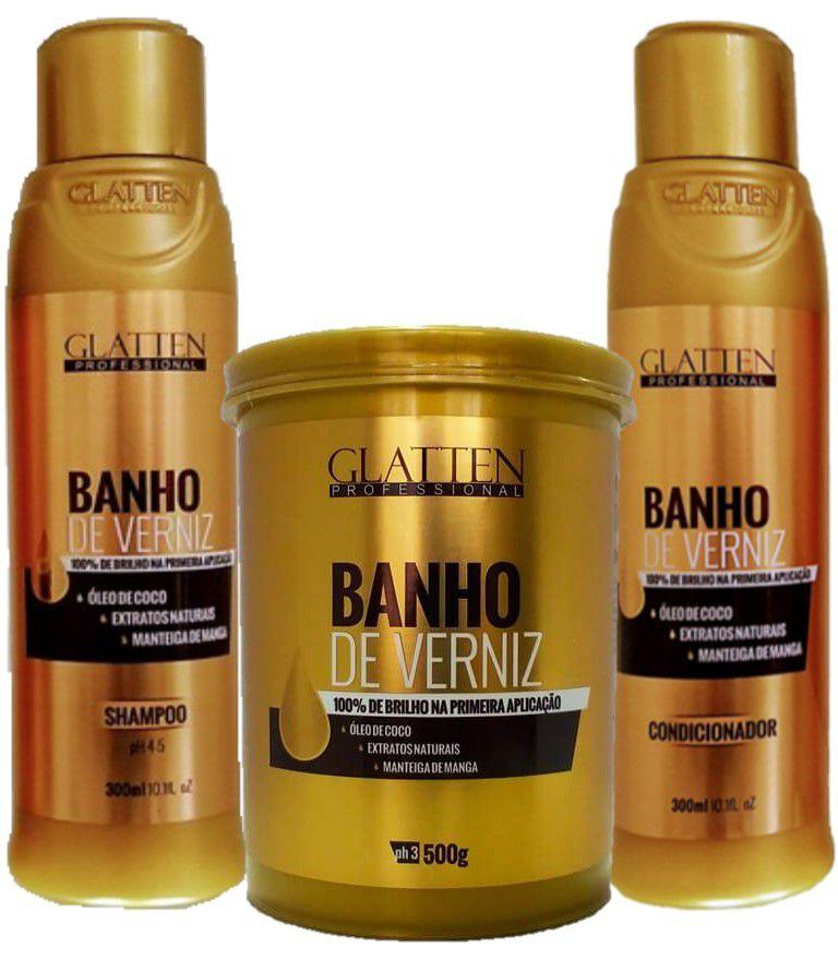 Kit Completo Glatten Banho de Verniz