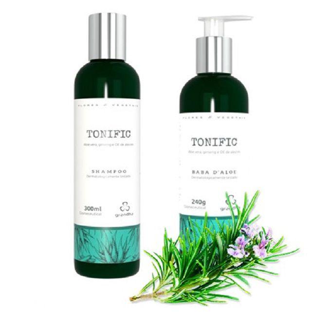 Kit Completo Grandha Tonific Flores e Vegetais + Secador Kemei Dobrável KM 6832