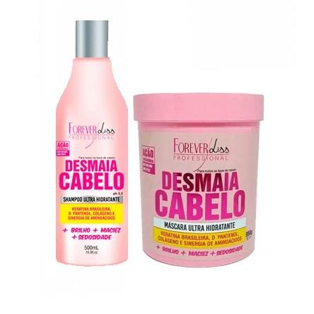 Kit Desmaia Cabelo Forever Liss Máscara 950g + Shampoo 500ml