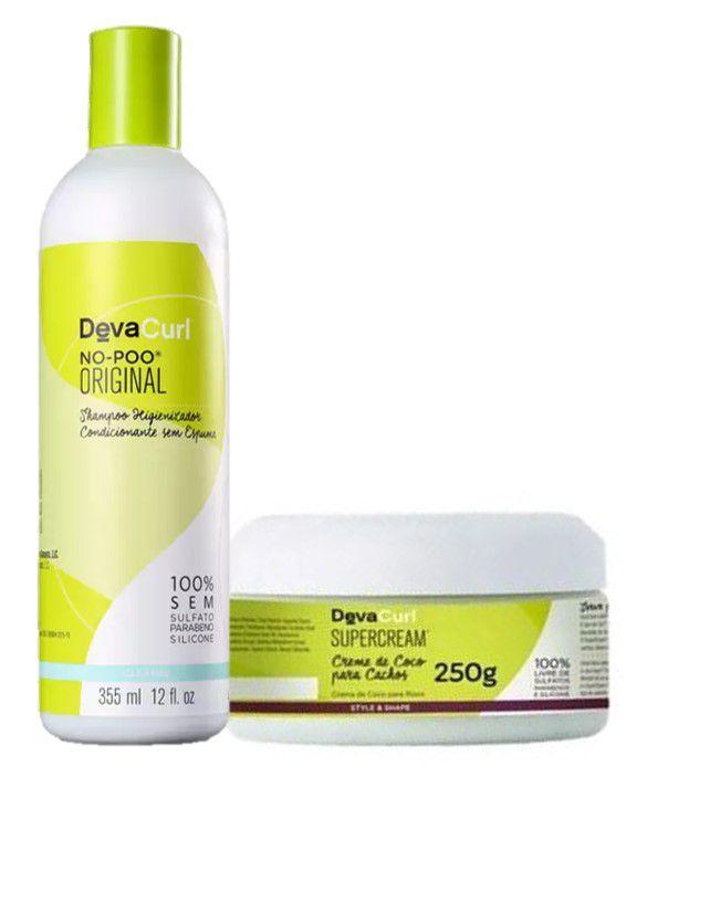 Kit Deva Curl Creme De Coco Super Cream 250g+no Poo 355ml