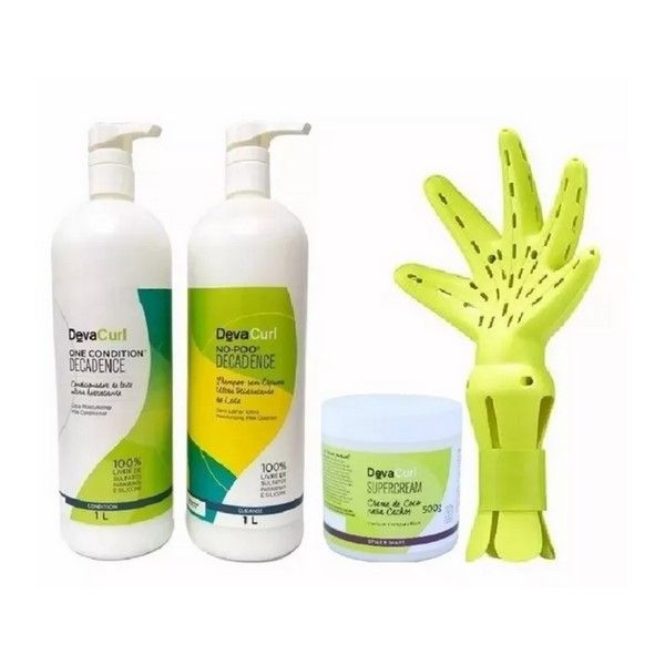 Kit Deva Curl Decadence + Super Cream 500g + Deva Fuser