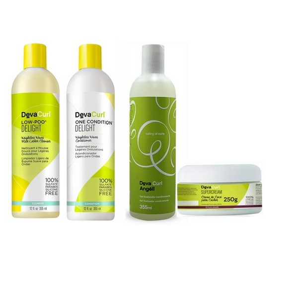 Kit Deva Curl Delight Low Poo, One, Angell e Super Cream