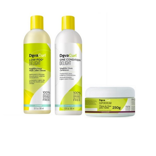 Kit Deva Curl Delight Low Poo, One e Super Cream