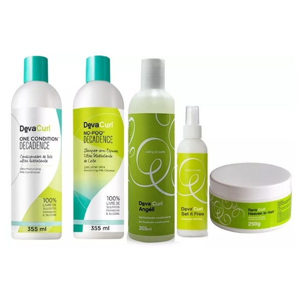Kit Deva Curl Decadence No Poo, One, Heaven e Set it free