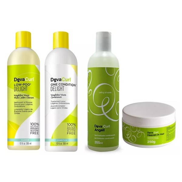 Kit Deva Curl Delight No Poo, One, Angell e Heaven