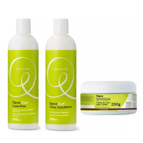 Kit Deva Curl Low Poo, One e Super Cream