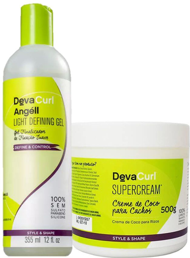 Kit Deva Curl Super Cream 500g + Angéll 355ml