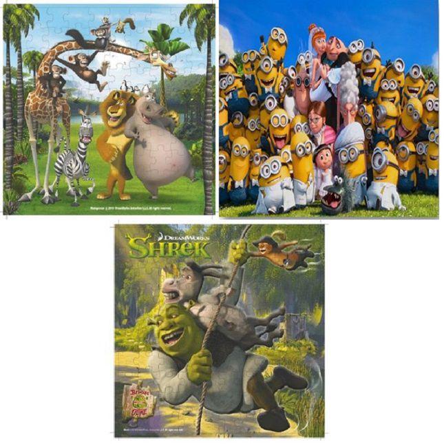 Quebra cabeça Madagascar Minions Shrek