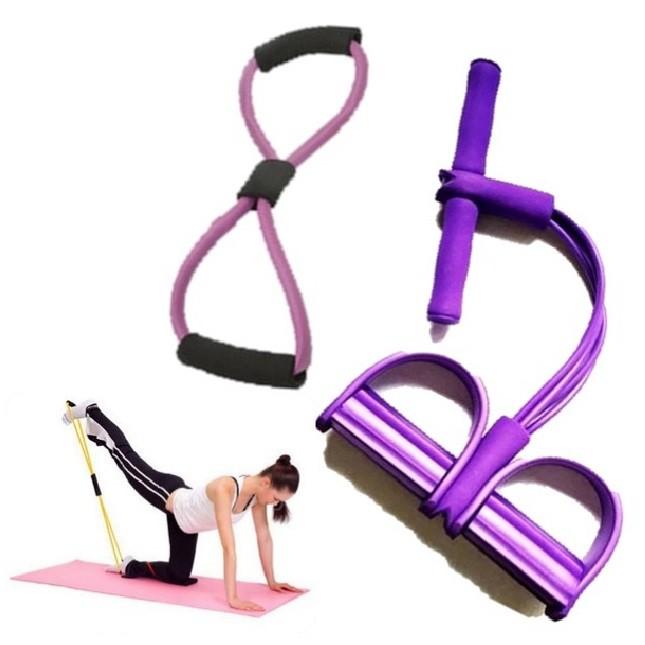 Kit Extensor Elástico Academia Biceps/Triceps Pilates Treino