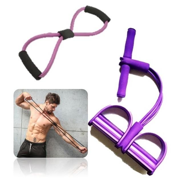 Kit Extensor Elástico Academia  Pilates Treino Biceps/Triceps