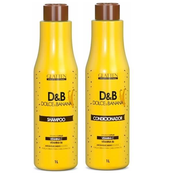 Kit Glatten Dolce&Banana Shampoo e Condicionador 1L