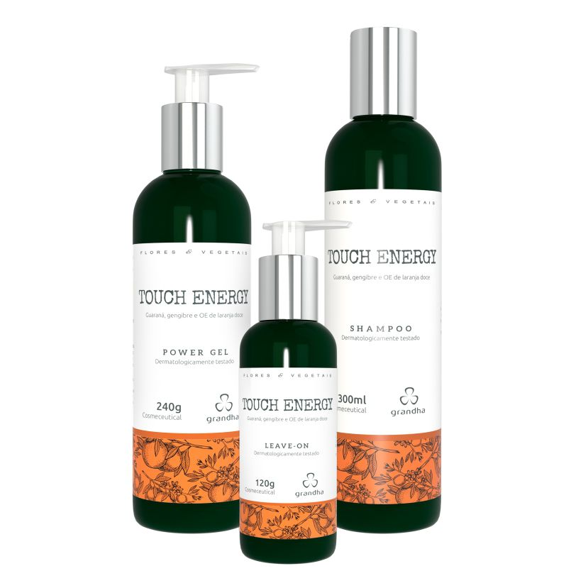 Kit Grandha Touch Energy Flores e Vegetais Power Gel Shampoo Leave on