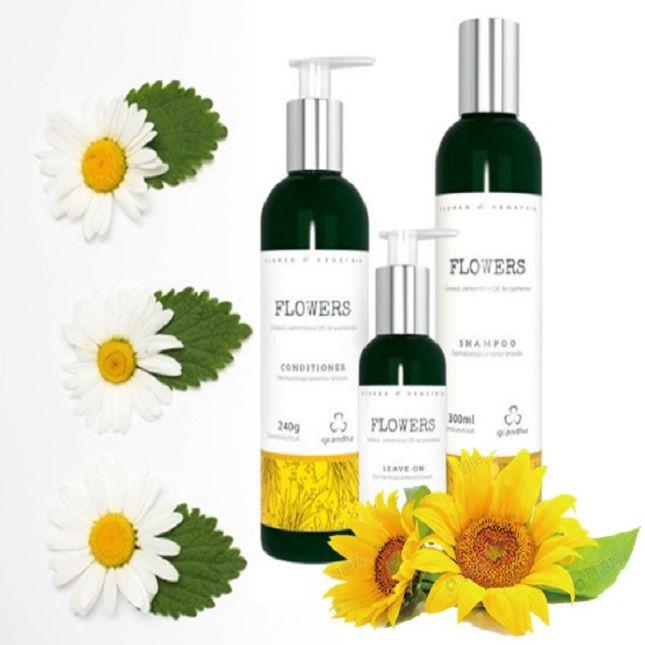 Kit Grandha Flowers + Escova  Alisadora 2 em 1 Bivolt