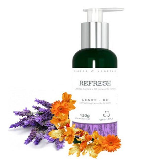 Kit Grandha Refresh Flores & Vegetais Shampoo Condicionador Leave-in