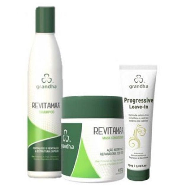 Kit Grandha Revitamax Máscara Shampoo Leave-in