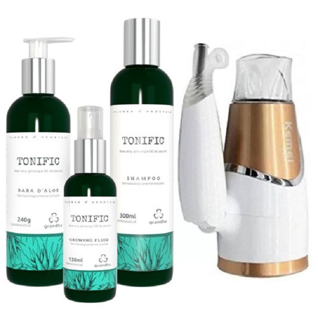 Kit Grandha Tonific Flores e Vegetais + Secador KM 6832