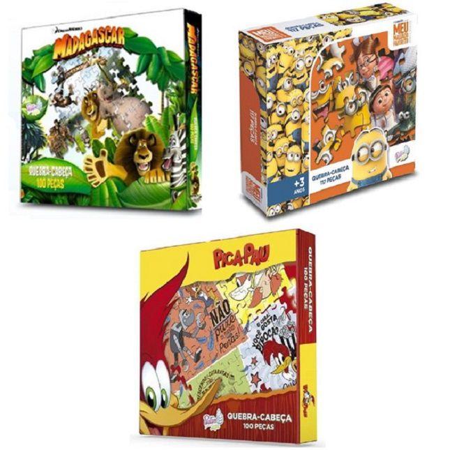 Kit Infantil Quebra Cabeça Jogos  100 Peças