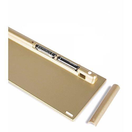 Kit Mini Teclado Mais Mouse Sem Fio 2.4G Ultra Slim HK -3910