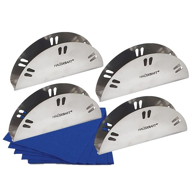 Kit Porta Guardanapo Aço Inox Mesa com 4 Unidades