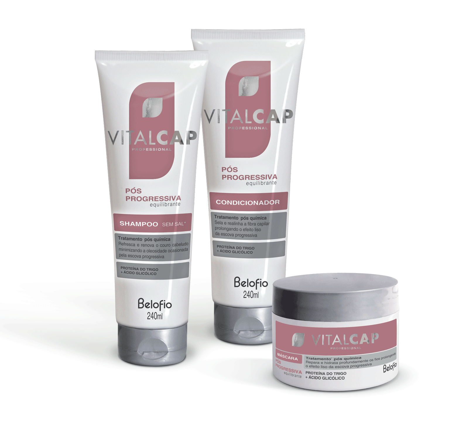 Kit Pós Progressiva VITALCAP 240ml e Máscara 250g